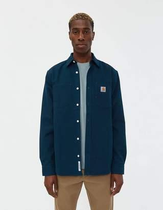 Carhartt Wip Tony Canvas Shirt in Duck Blue