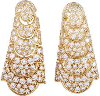 Cartier Heritage  18K 5.50 Ct. Tw. Diamond Drop Earrings