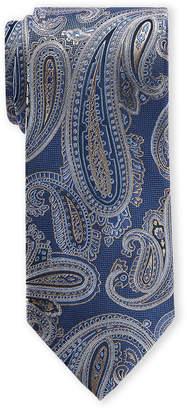 Piattelli Bruno Blue Paisley Silk Tie