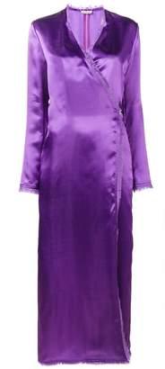 ATTICO Raquel wrap dress