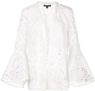 Alberto Makali sheer lace jacket
