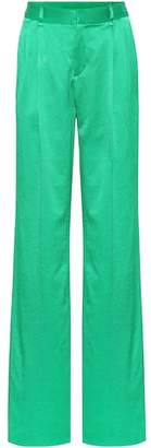 ATTICO Hammered satin trousers