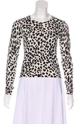 Diane von Furstenberg Cheetah Print Knit Cardigan