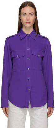Joseph Purple Silk Rainer Shirt