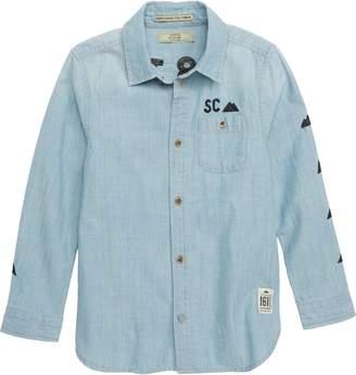 Scotch Shrunk Embroidered Chambray Shirt
