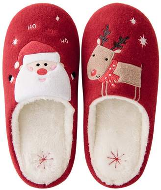 at amazon canada hotmiss slippers for women cute christmas santa claus deer animal plush winter slippers comfy
