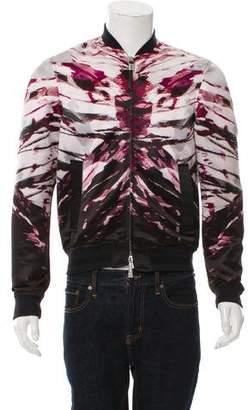 Just Cavalli Multicolored Printed Bomber Jacket
