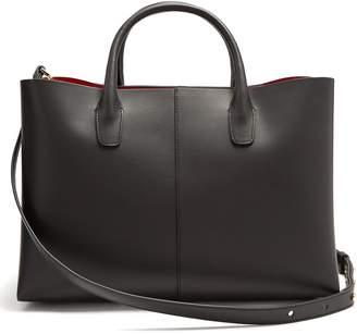 Mansur Gavriel Red-lined folded leather bag