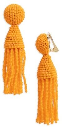 Women's Oscar De La Renta 'Classic Short' Tassel Drop Clip Earrings $350 thestylecure.com