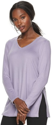 Apt. 9 Women's Essential Long Sleeve Tunic Tee