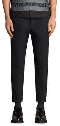 AllSaints Tallis Pleated Cotton & Wool Trousers