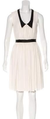 Yigal Azrouel Cut25 by Sleeveless Point Collar Dress