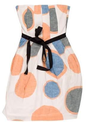 United Bamboo Strapless Knee-Length Dress