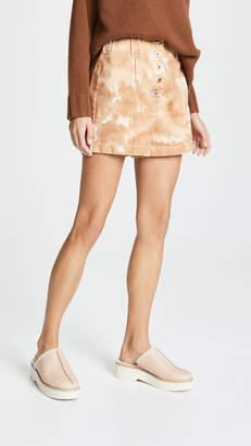 3.1 Phillip Lim Tie Dye Denim Cargo Shorts