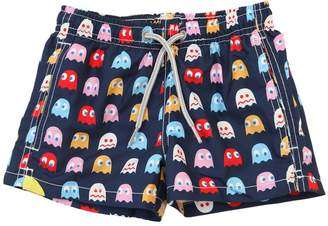 MC2 Saint Barth Pac Man Print Nylon Swim Shorts