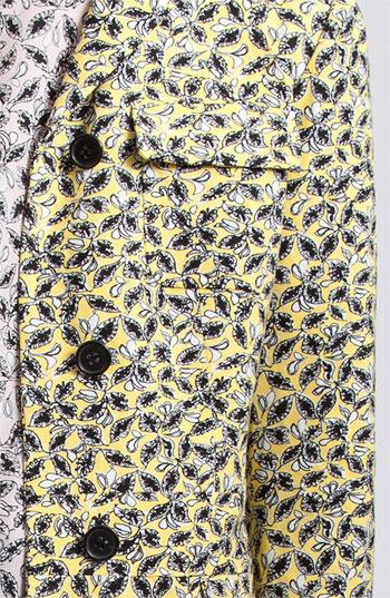 Marni Edition Long Leaf Print Coat 6 US / 42 IT