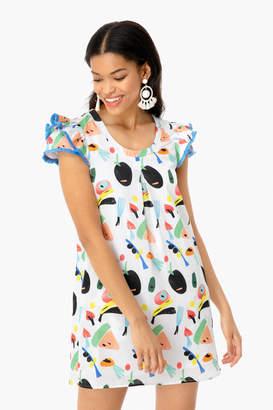 Persifor Yellow Watermelon Clare Dress