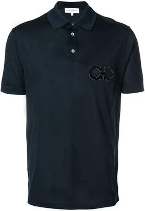 Salvatore Ferragamo double Gancio embroidered polo shirt