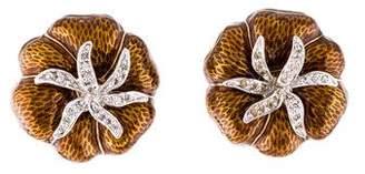 Judith Leiber Crystal & Enamel Heirloom Tomato Earrings