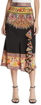 Etro Engineer Radiant Bloom Midi Skirt