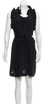 Etoile Isabel Marant Silk Ruffle-Accented Dress