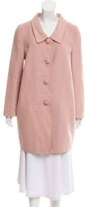 Prada Virgin Wool Knee-Length Coat