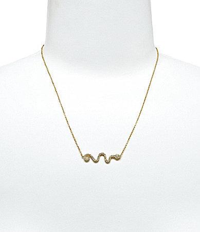 Nadri Side Snake Pendant Necklace