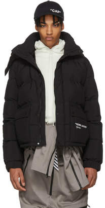 Off-White Black Down Quote Puffer Jacket