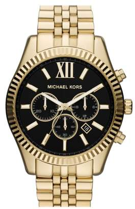Michael Kors 'Large Lexington' Chronograph Bracelet Watch, 45mm