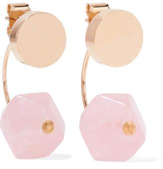 Isabel Marant Gold-tone Quartz Earrings