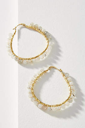 Anthropologie Cleo Beaded Hoop Earrings