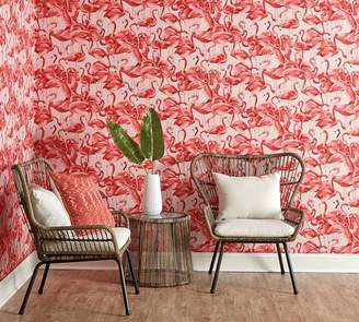 Pottery Barn Flamingo Cheeky Pink Wallpaper