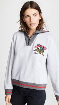 Kenzo Stand Collar Zipped Sweatshirt