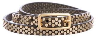 Zadig & Voltaire Leather Studded Belt