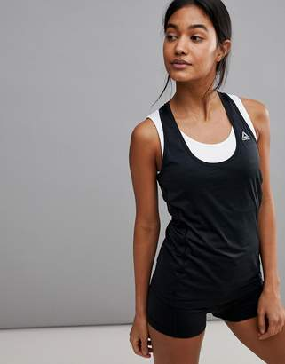 Reebok Running Racer Back Tank In Black
