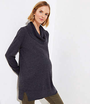LOFT Maternity Cowl Neck Tunic Sweater