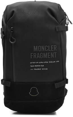 Moncler Genius 7 Fragment Hiroshi Fujiwara Fabric Backpack with Leather