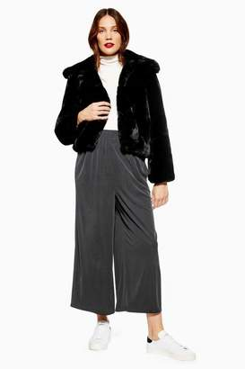 Topshop Womens **Maternity Cropped Wide Trousers