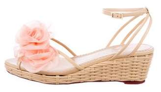 Charlotte Olympia Floral Wedge Sandals