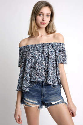 Raga Winona Floral Crop Off The Shoulder Top