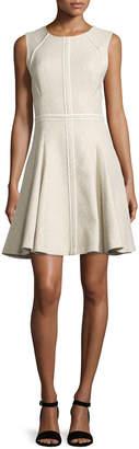 J. Mendel Sleeveless Godet-Pleated Dress, Cargo/Multi