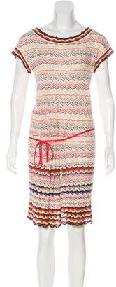 Missoni Short Sleeve Knee-Length Dress