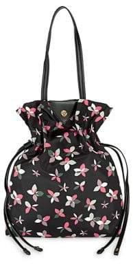 Anne Klein Toggle Floral Bucket Bag