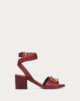 Valentino Garavani Grainy Cowhide Sandal With Vlogo Detail 60mm Women Black 37