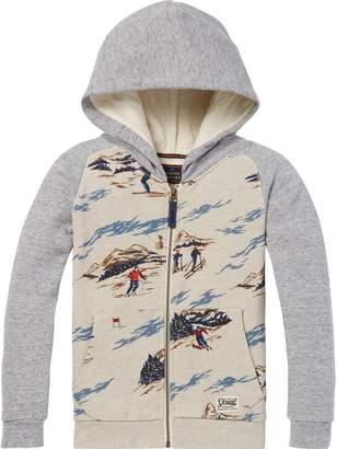 Scotch & Soda Ski Print Zip-Through Hoodie