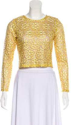 Alexis Lace Long Sleeve Top