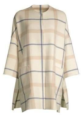 Max Mara Alfa Plaid Virgin Wool-Blend Coat