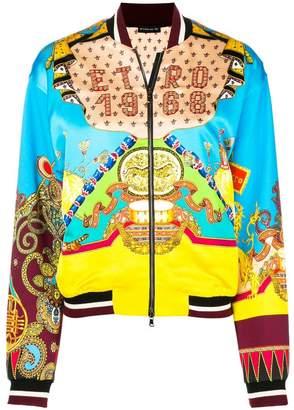 Etro circus print bomber jacket