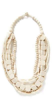 J.Mclaughlin Nissi Wooden Bead Layer Necklace