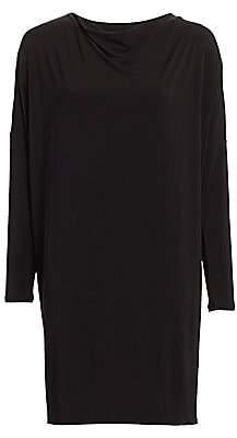 Issey Miyake Women's Draped Jersey Shift Dress